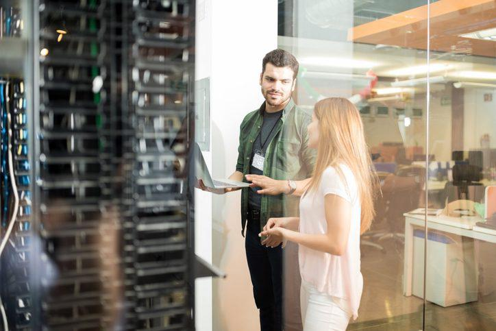 Two IT Company Professionals Working